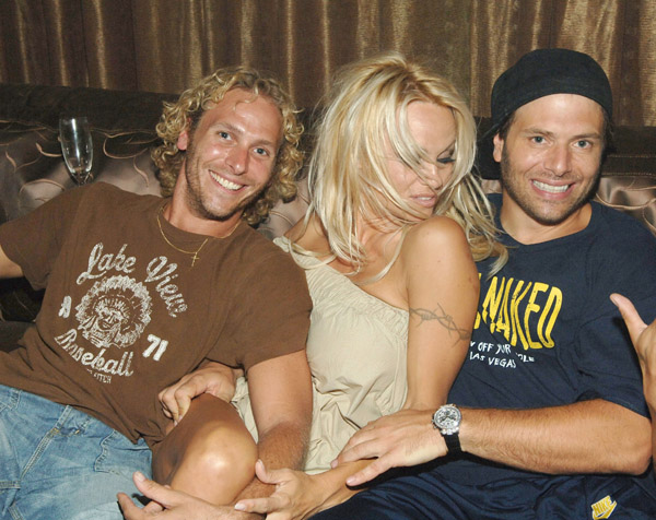 Pamela Anderson with Rick Solomon & friend The tabloids have put her ...