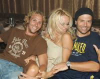 Pamela Anderson with Rick Solomon & friend