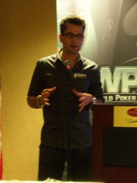 Antonio at the WPT press conference