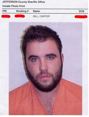 carter gill online poker pro jail oklahoma mugshot