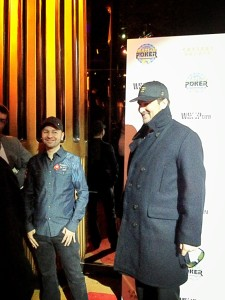 Daniel Negreanu and Phil Hellmuth arrive for the NBC Heads-Up draw party, even though Negreanu opted out to spend the weekend with friends.