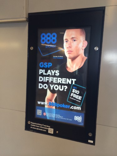 Georges St. Pierre pimpin' for 888.