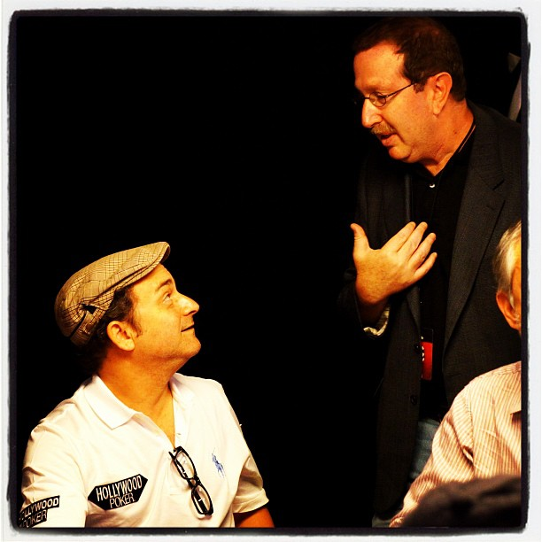 Kevin Pollack and Norm Chad during the 2012 WSOP Main Event