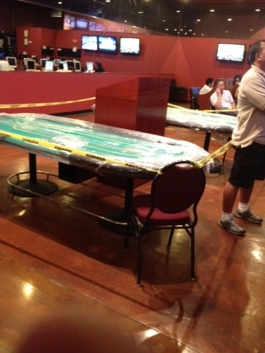 new two table room inside leroys sportsbook at ellis island