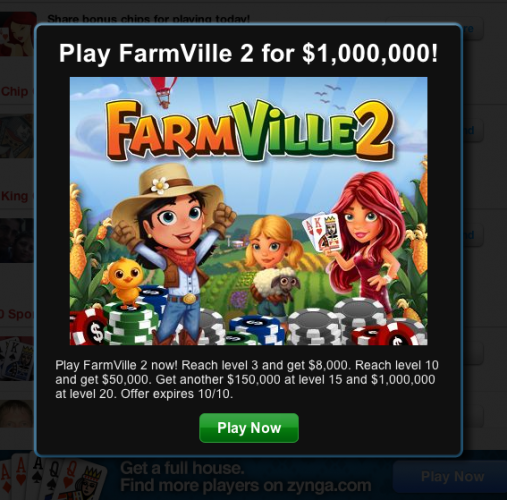 poker farmville world series zynga