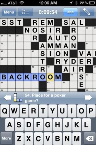 poker crossword puzzle new york times
