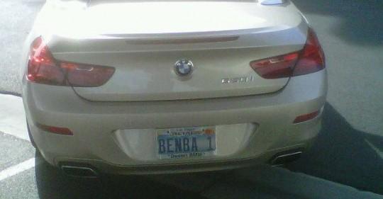 ben lamb bmw license plate