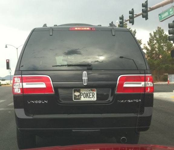 nevada license plate poker